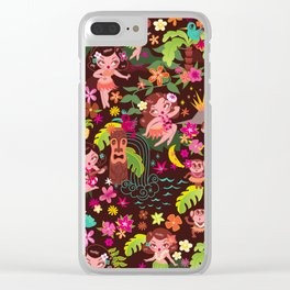 Hula Cuties Pattern Clear iPhone Case