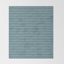 Arrows on Horizon Blue Throw Blanket