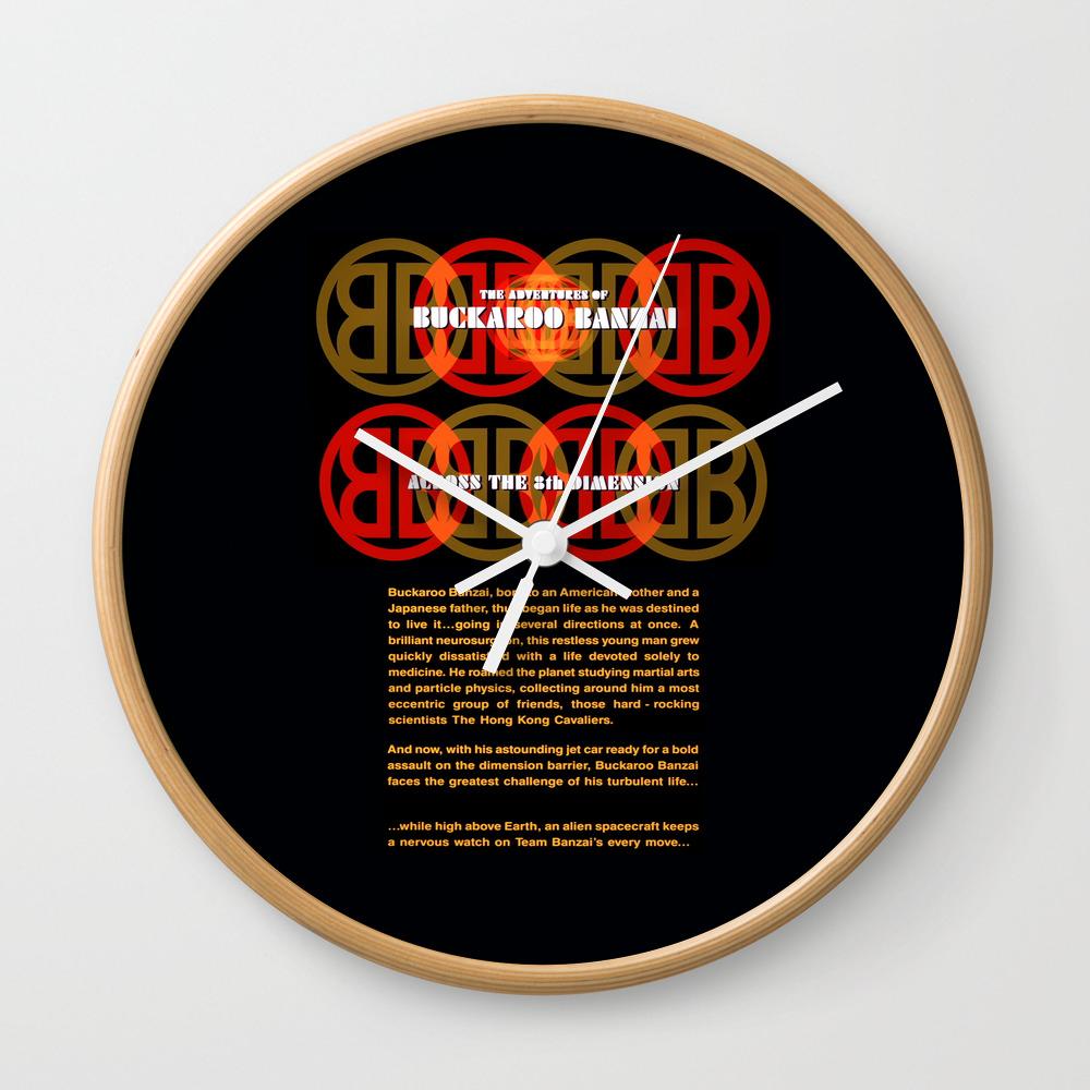 The Adventures Of Buckaroo Banzai Across The 8th D… Clock by Funnyfaceart CLK8738589