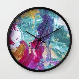 Abstract painting 5 Wall Clock