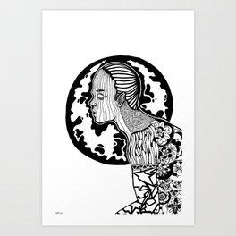 Human Pattern Art Print