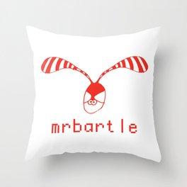 Mr Bartle ***** Rabbit Logo Throw Pillow