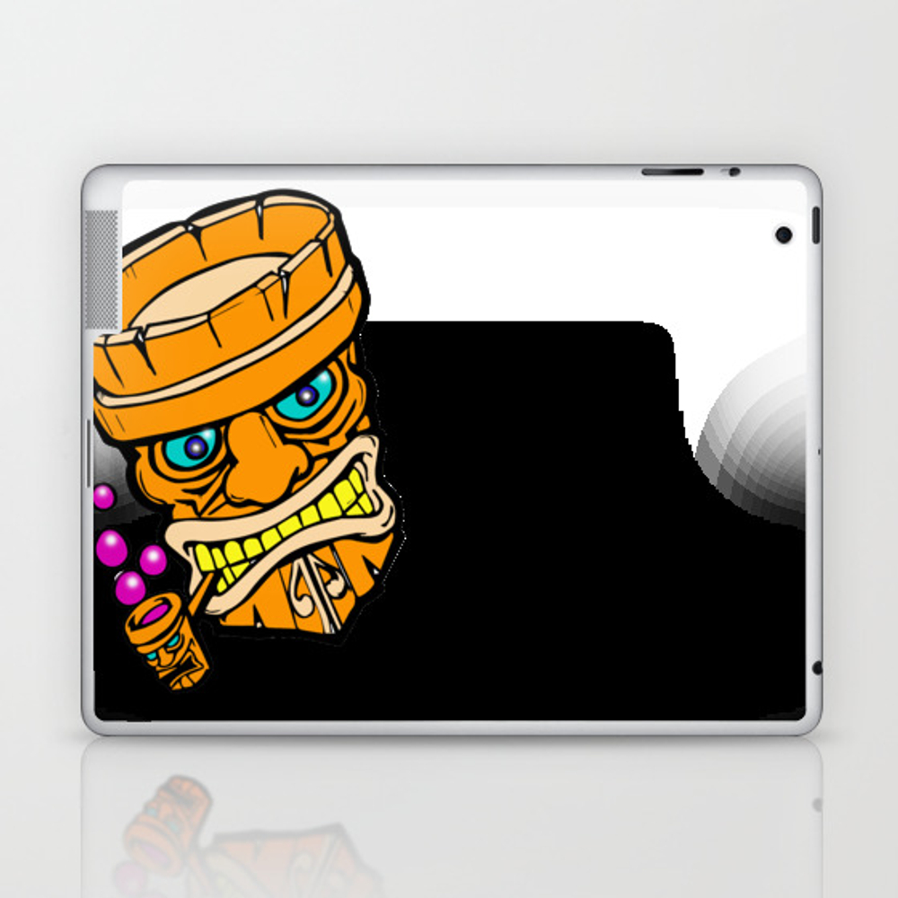 Mr Tiki The Bubble Blow'n Machine Laptop & Ipad Skin by Wichitacathedral LSK8501148
