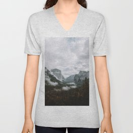 Moody Yosemite Tunnel View Unisex V-Neck