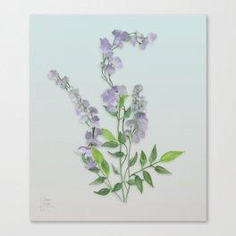 Purple Tiny Flowers Canvas Print