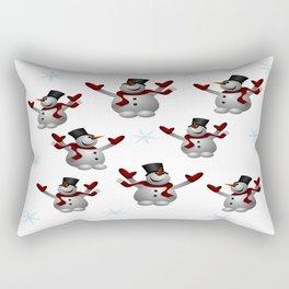 Snowmen and Snowflakes Rectangular Pillow