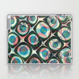 Transparent dots, cyan & pink, marble Laptop & iPad Skin