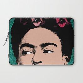 Frida Kahlo Floral Portrait Laptop Sleeve