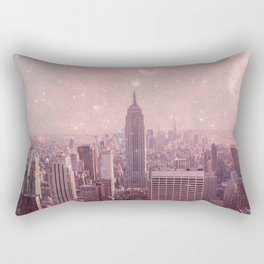 Stardust Covering New York Rectangular Pillow