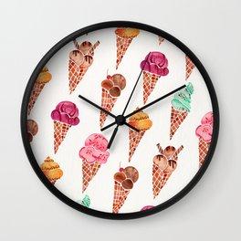 Ice Cream Cones – Rainbow Palette Wall Clock