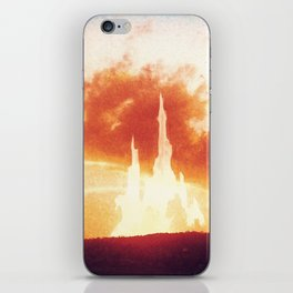 Sunset castle city in the clouds iPhone Skin