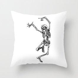 Dancer Skeleton Throw Pillow