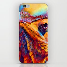 Chameleon Watercolor iPhone Skin
