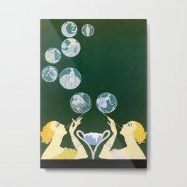 """1920's Art Deco Design """"Bubbles"""" Metal Print"""