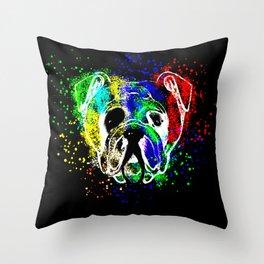 Bulldog,dog illustration Throw Pillow