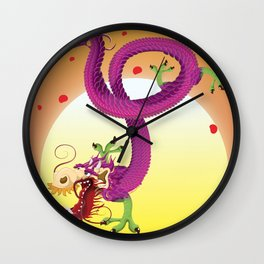 Wuhan Hubei province travel poster Wall Clock