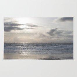 Silver Scene ~ Ocean Ripple Effect Rug