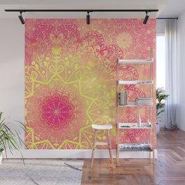 Mandala in Rose and Lemon Wall Mural