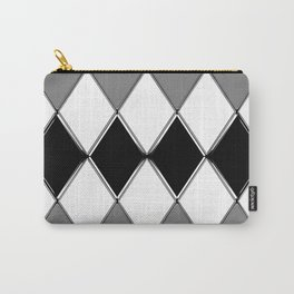 Shiny diamonds in black and white. Geometric abstract. Carry-All Pouch
