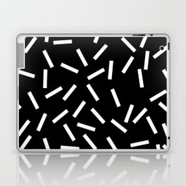 Sprinkles Black Laptop & iPad Skin