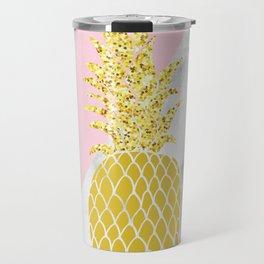marble pinapple pinky design Travel Mug