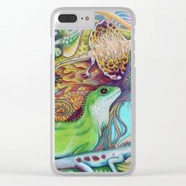 A Tangle Of Lizards, Lizard Art Clear iPhone Case