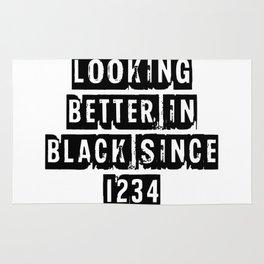 Looking Better In Black Since 1234 [Black] Rug