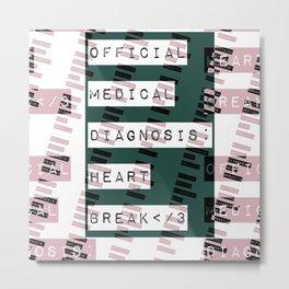 HEART</3BREAK green Metal Print