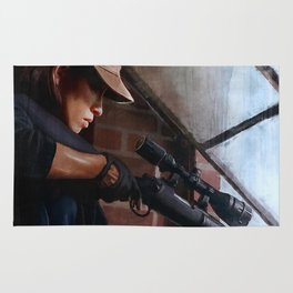 Rosita The Sniper - The Walking Dead Rug