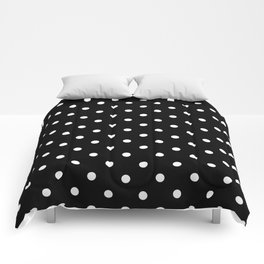Black & White Polka Dots Comforters
