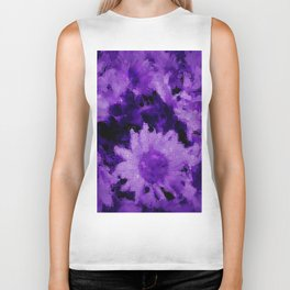Trendy purple collection 1 Biker Tank