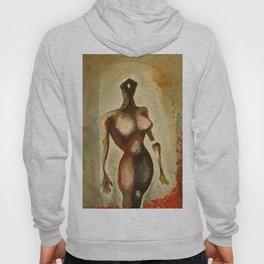 Eves 1, Nude surrealist female figure, NYC Artist Hoody