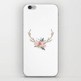watercolor horns iPhone Skin