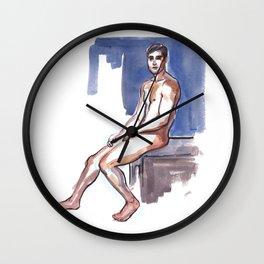 NICK, Nude Male by Frank-Joseph Wall Clock