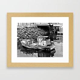 silent boat  Framed Art Print