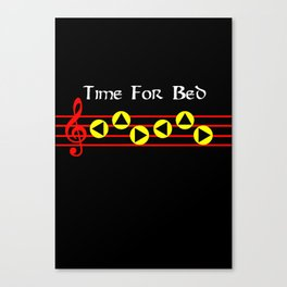 Time For Bed - Zeldas Lullaby (The Legend Of Zelda: Ocarina Of Time) Canvas Print