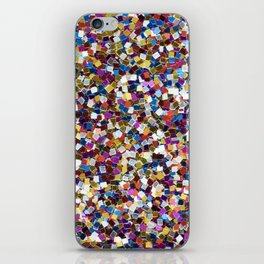Colorful Rainbow Sequins iPhone Skin