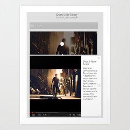 125+ Best Premium & Free jQuery Slider Carousel Plugins Art Print