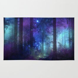Out of the dark mystic light Rug