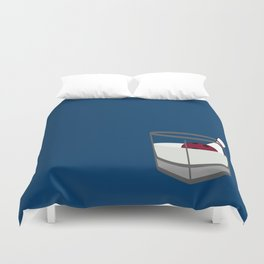 Hey, careful, man, there's a beverage here!  Duvet Cover