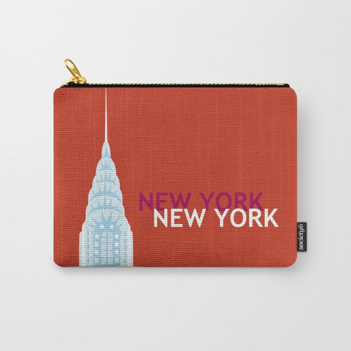 New York City, New York - Skyline Illustration by Loose Petals Carry-All Pouch