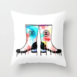 Colored Luxury Boots Throw Pillow