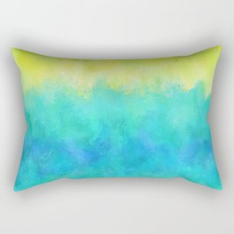 Sunflower and Ice Abstract Rectangular Pillow
