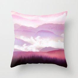 Candy Floss Mist Throw Pillow
