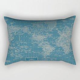 The World According to US Rectangular Pillow