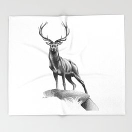 All Muscle - Red Deer Stag Throw Blanket