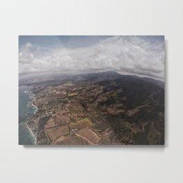 Skydiving Over Oahu Metal Print