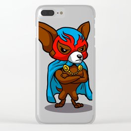 Cute dog chihuahua Fighter Lucha Libre Clear iPhone Case