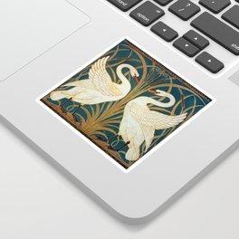 Walter Crane Swan, Rush And Iris Sticker