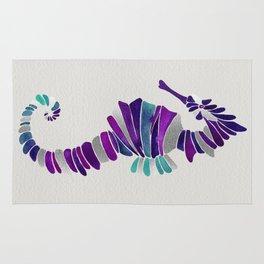 Seahorse – Purple & Silver Rug